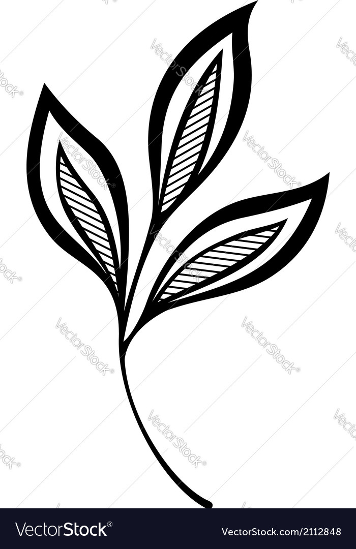 Original decorative leaf with ornament vector | Price: 1 Credit (USD $1)