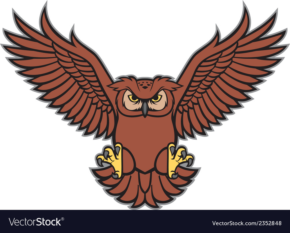 Owl spread the wing vector | Price: 1 Credit (USD $1)