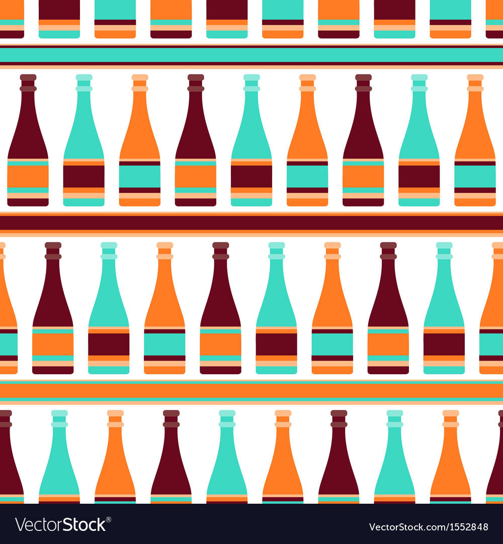 Seamless pattern with bottles of champagne in vector | Price: 1 Credit (USD $1)