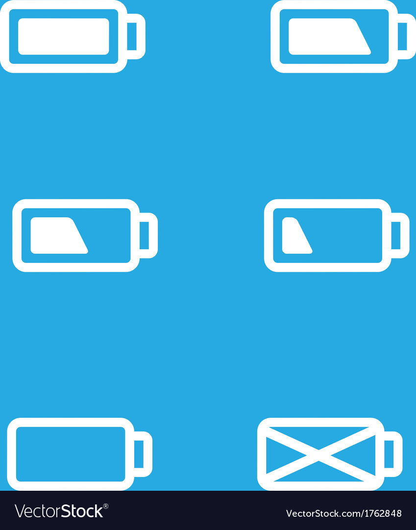 Set of mobile ui battery icons vector | Price: 1 Credit (USD $1)
