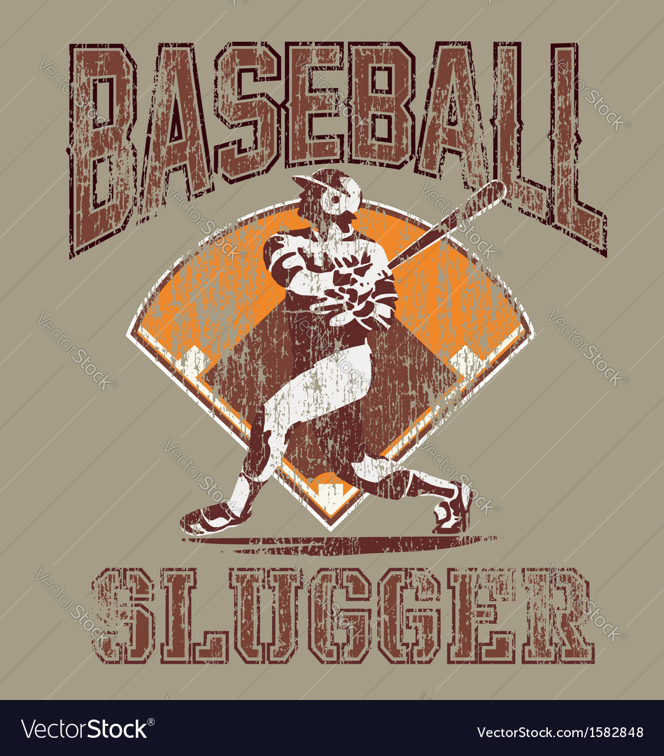 Slugger baseball vector | Price: 1 Credit (USD $1)