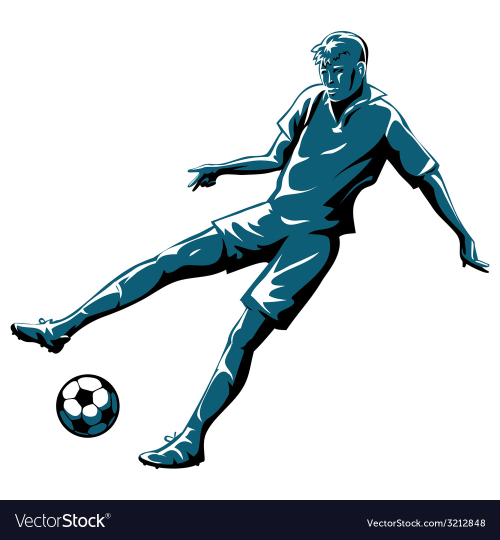 Soccer player in action vector | Price: 1 Credit (USD $1)