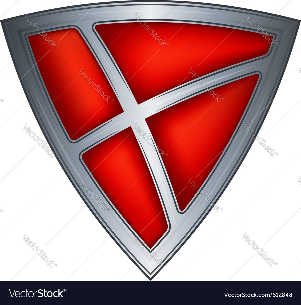 Steel shield with flag denmark vector | Price: 1 Credit (USD $1)