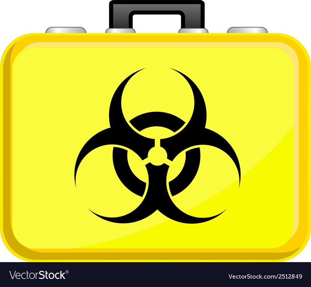 Bag with biohazard symbol vector | Price: 1 Credit (USD $1)