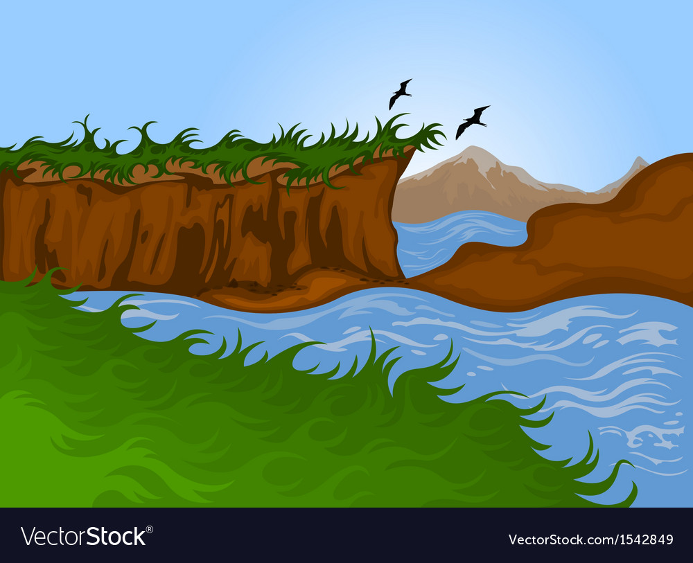 Beautiful nature landscape background vector | Price: 1 Credit (USD $1)