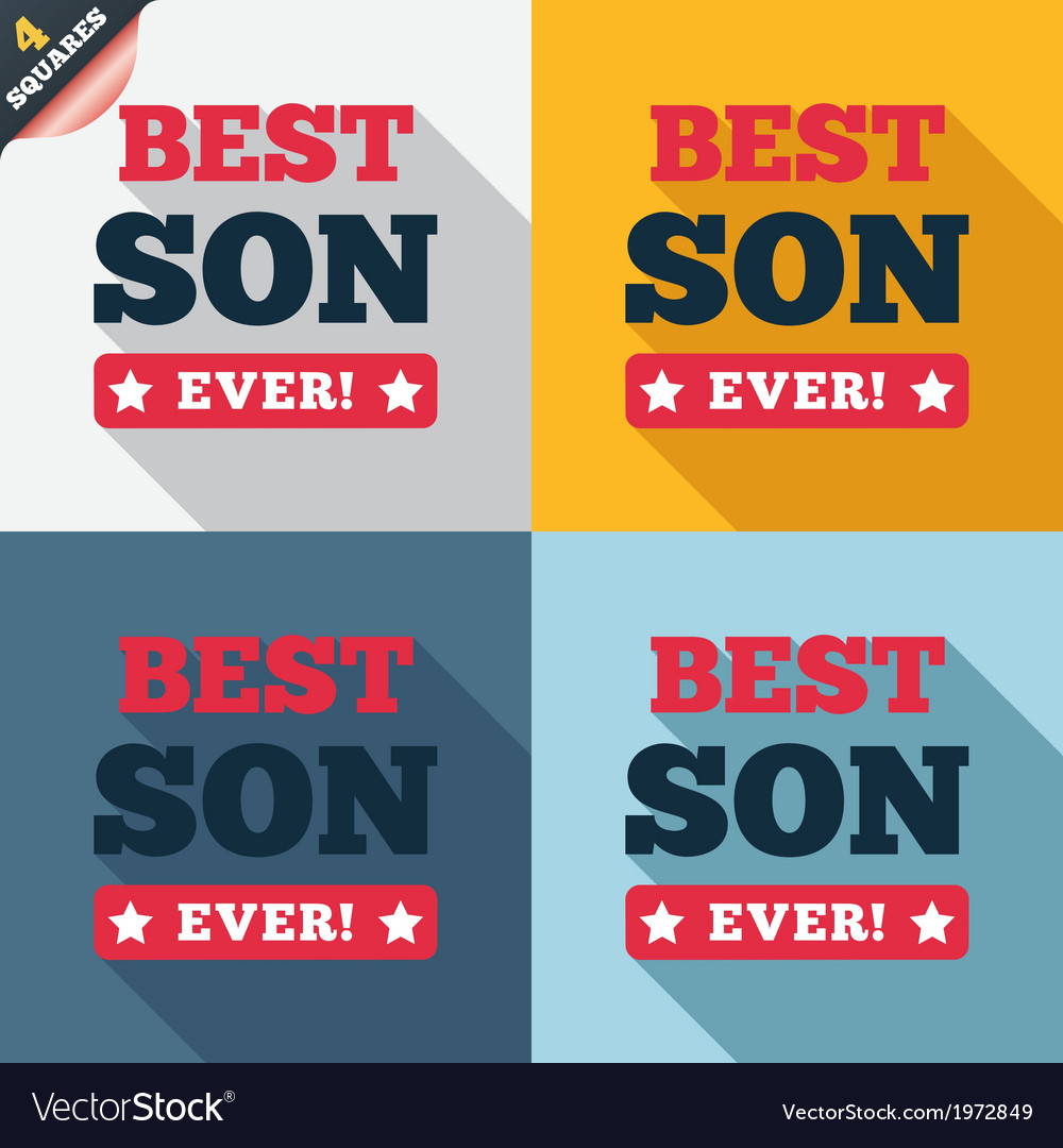 Best son ever sign icon award symbol vector | Price: 1 Credit (USD $1)