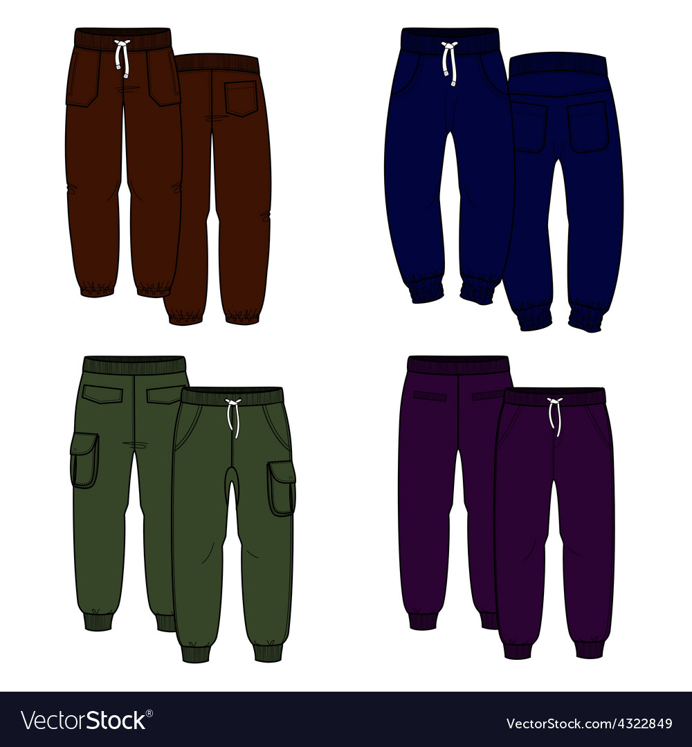 Color trousers vector | Price: 1 Credit (USD $1)