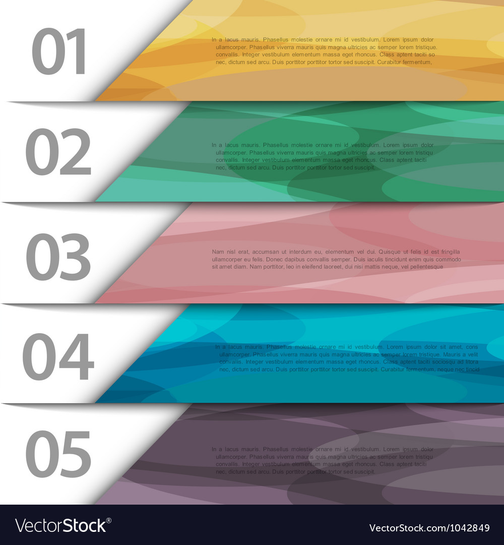 Colorful paper numbered banners vector | Price: 1 Credit (USD $1)