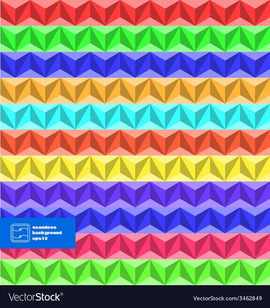 Colorful seamless triangles background vector | Price: 1 Credit (USD $1)