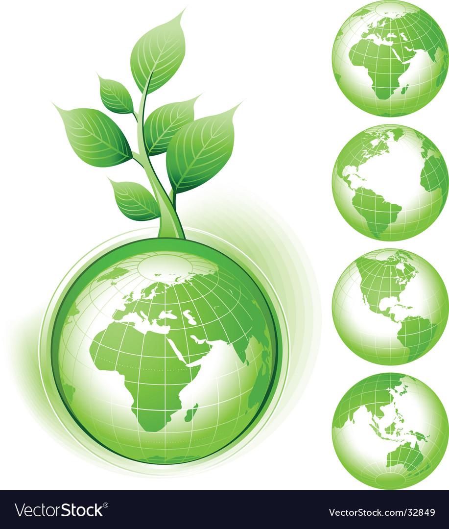 Earth symbol vector | Price: 1 Credit (USD $1)