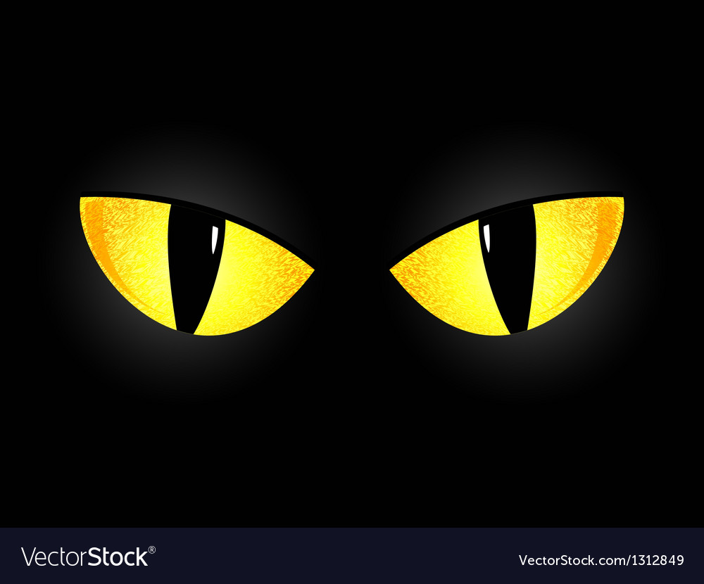Eyes of a black cat vector   Price: 1 Credit (USD $1)