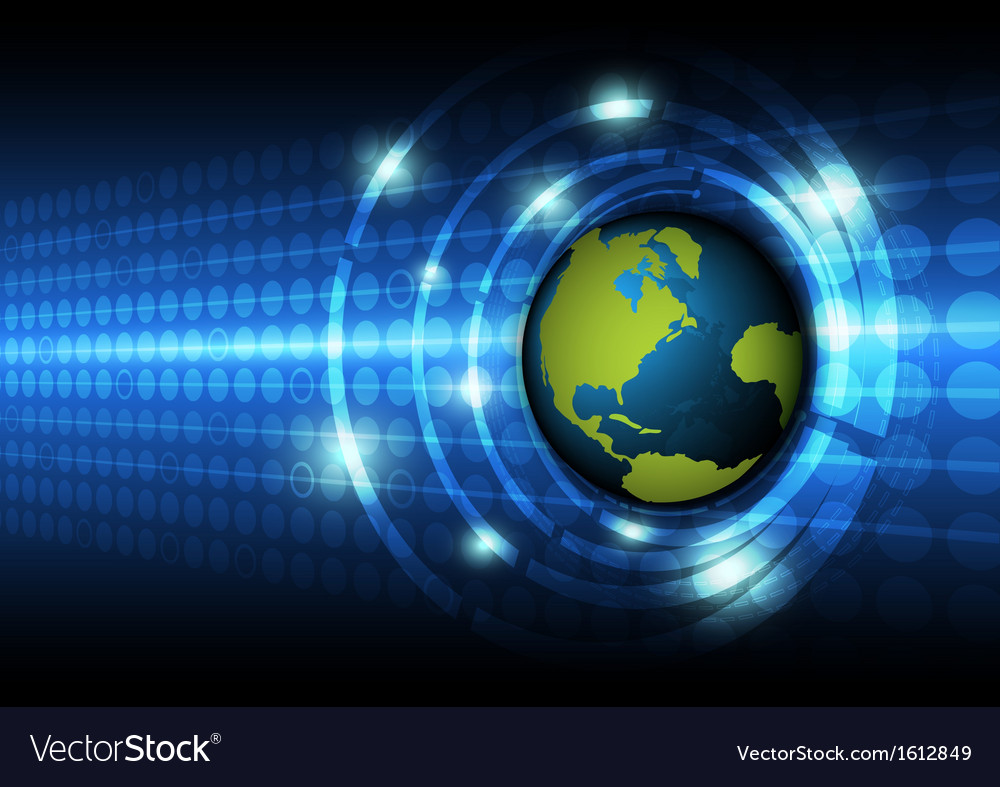Global technology concept background vector | Price: 1 Credit (USD $1)