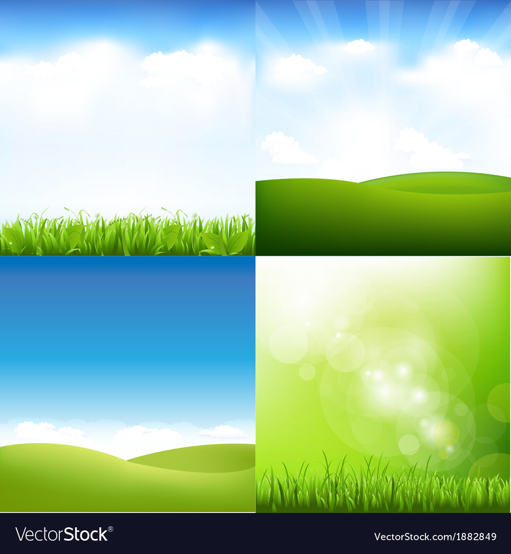 Grass and sky set vector | Price: 1 Credit (USD $1)