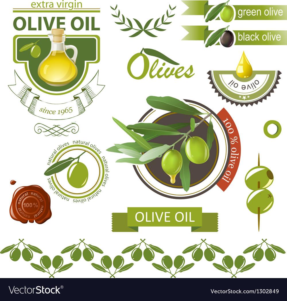 Olives emblems vector | Price: 3 Credit (USD $3)