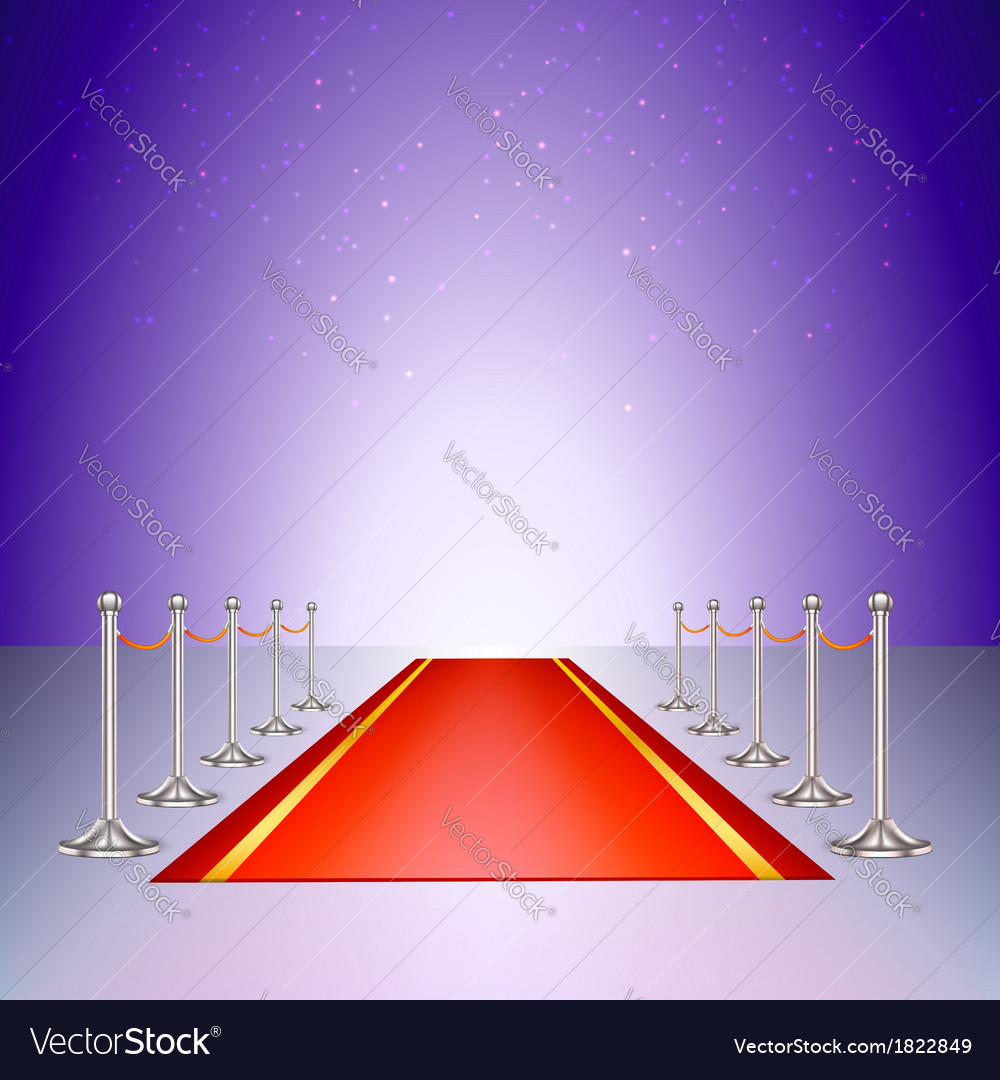 Red carpet entrance with the stanchions and the vector | Price: 1 Credit (USD $1)