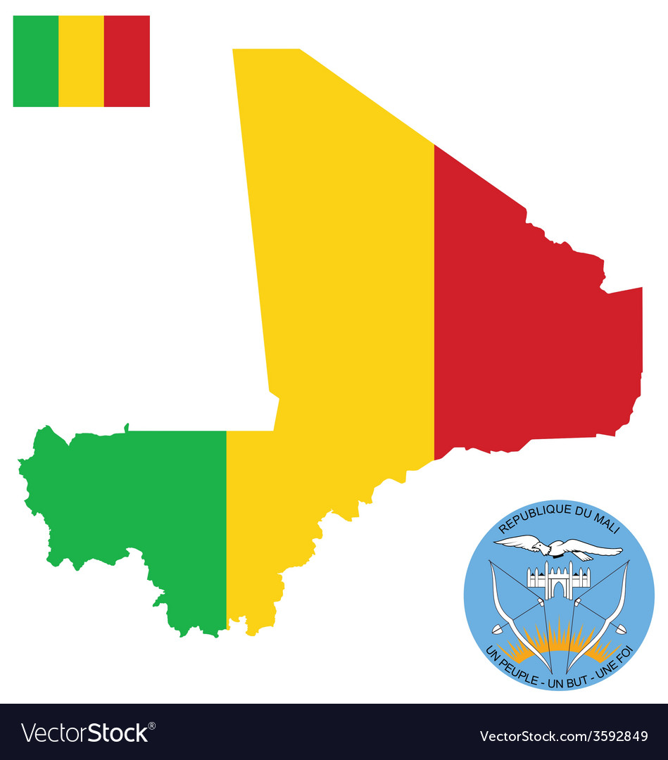 Republic of mali flag vector | Price: 1 Credit (USD $1)