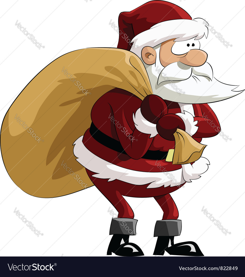 Santa with bag vector | Price: 3 Credit (USD $3)