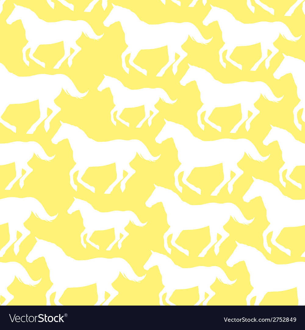 Seamless pattern with stylized horses vector   Price: 1 Credit (USD $1)
