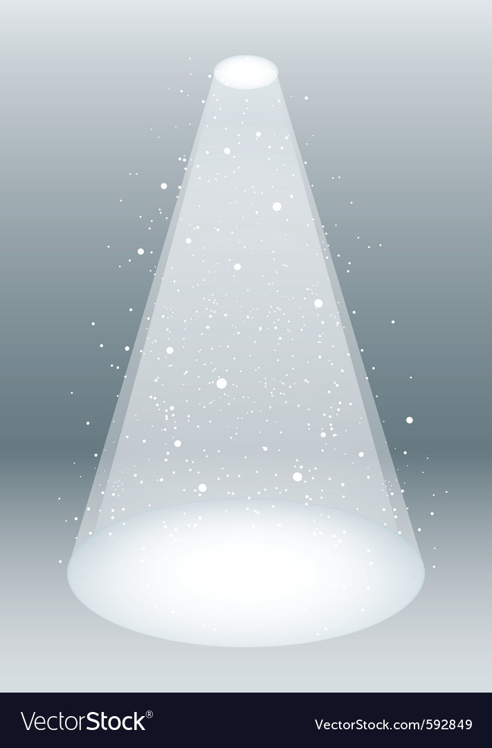 Snow falling in spotlight vector | Price: 1 Credit (USD $1)