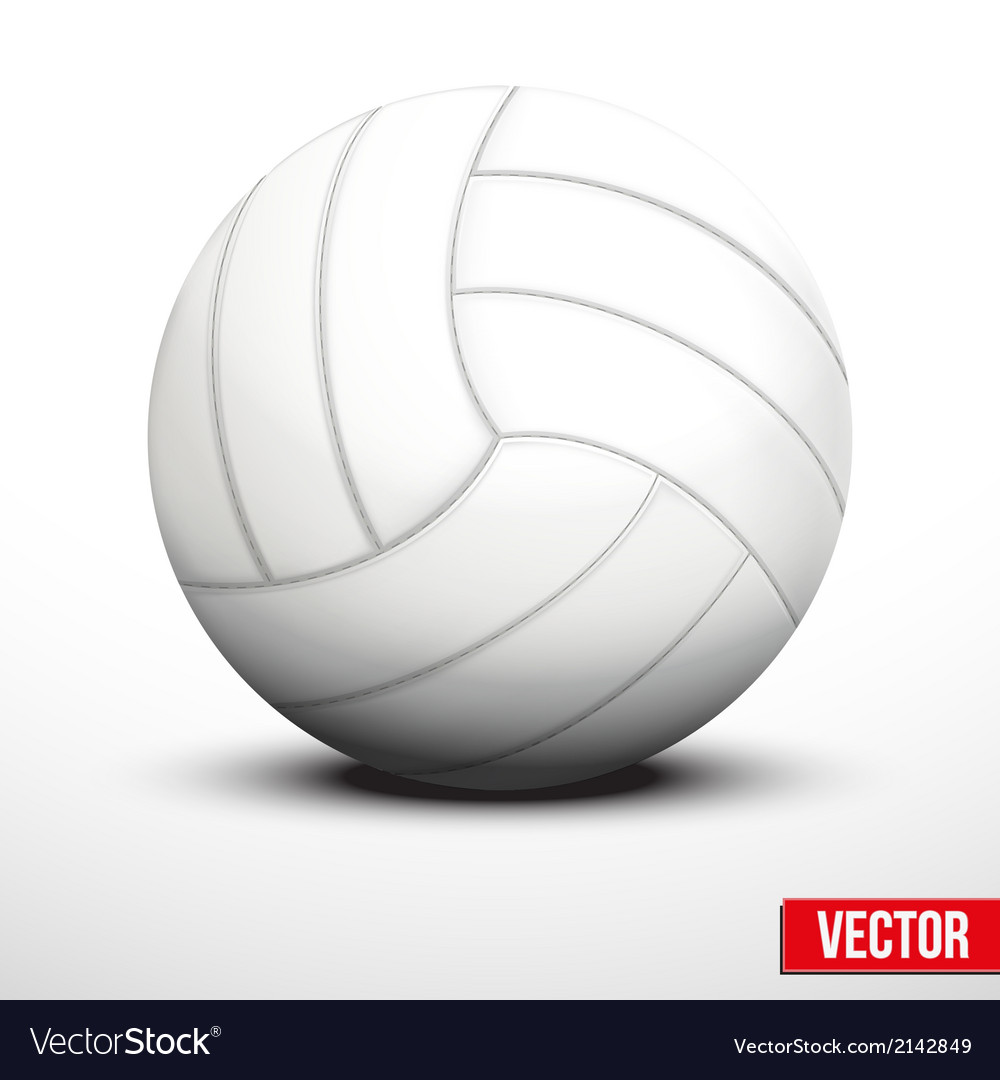 Volleyball in traditional color on white vector | Price: 1 Credit (USD $1)