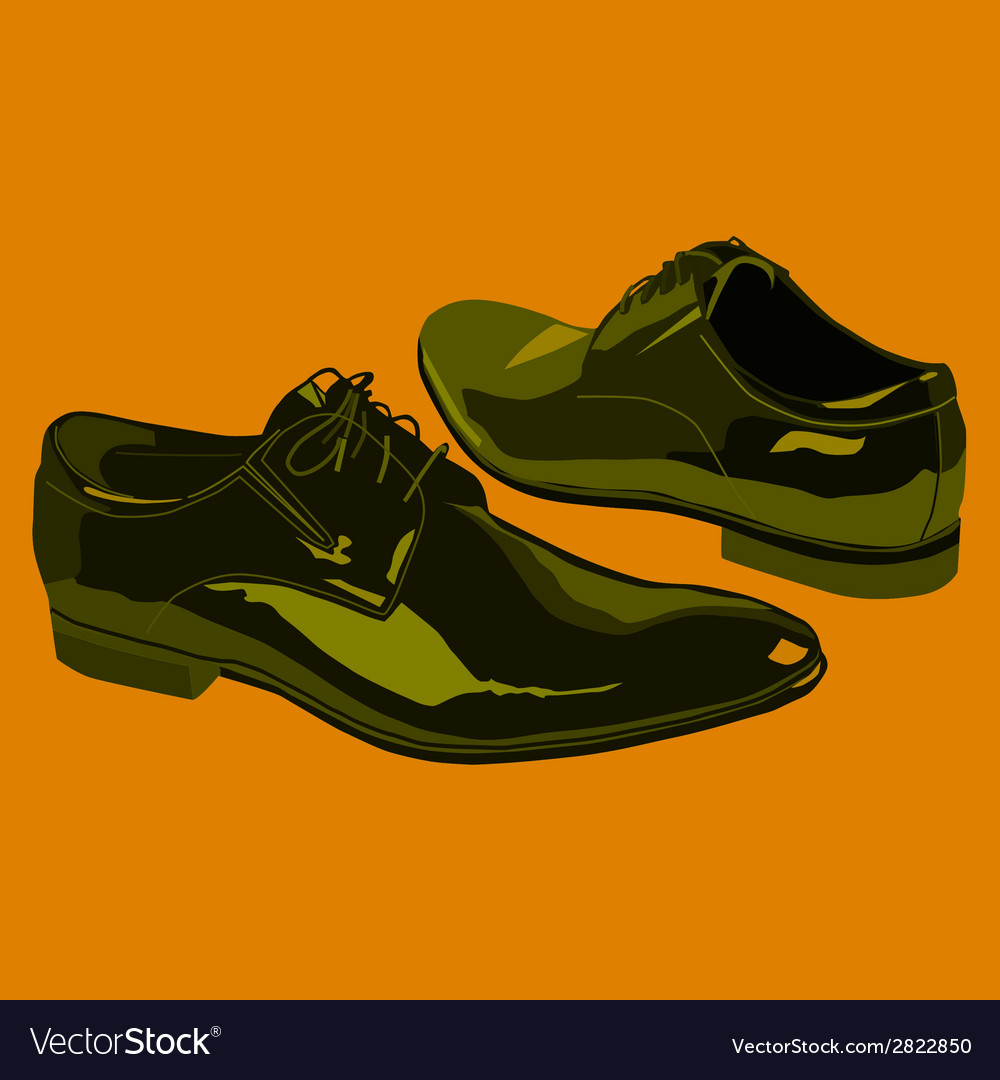 Business shoes for men vector | Price: 1 Credit (USD $1)