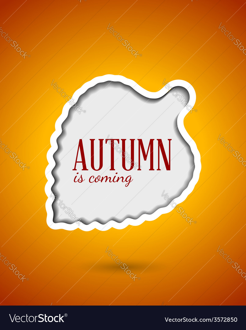 Cut out autumn leaf frame vector   Price: 1 Credit (USD $1)