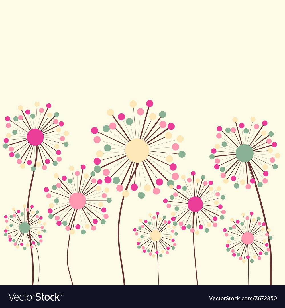 Flower background in pastel colors vector | Price: 1 Credit (USD $1)