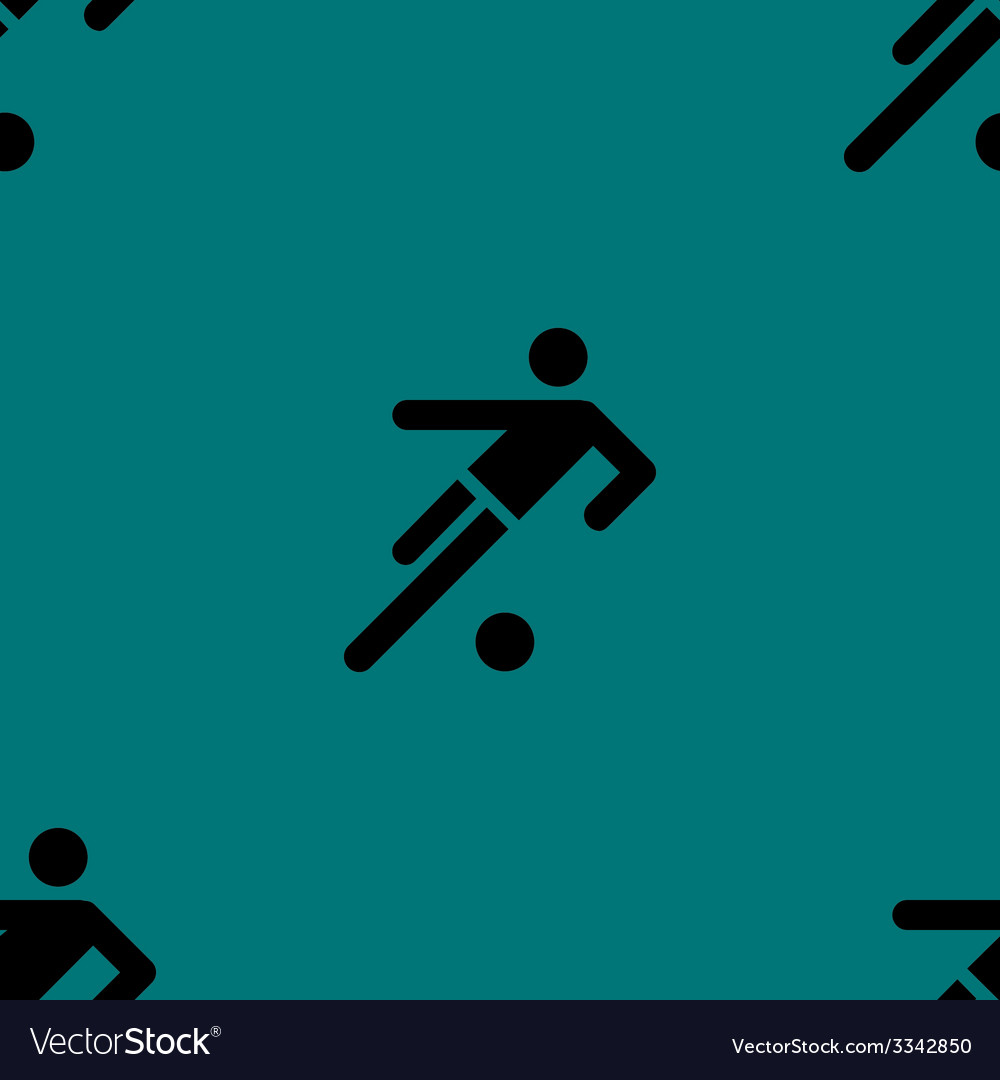 Football player web icon flat design seamless gray vector | Price: 1 Credit (USD $1)