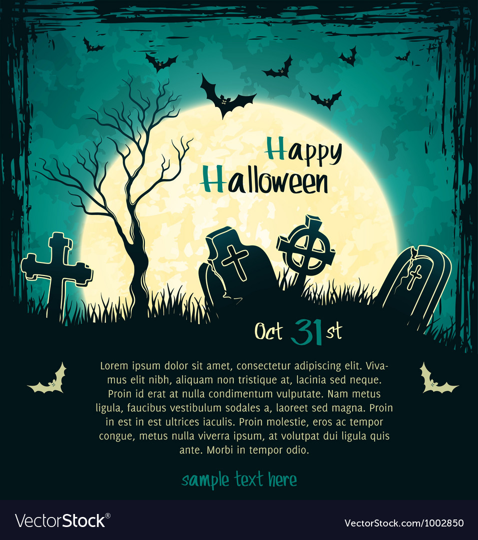 Green grungy halloween background vector | Price: 1 Credit (USD $1)