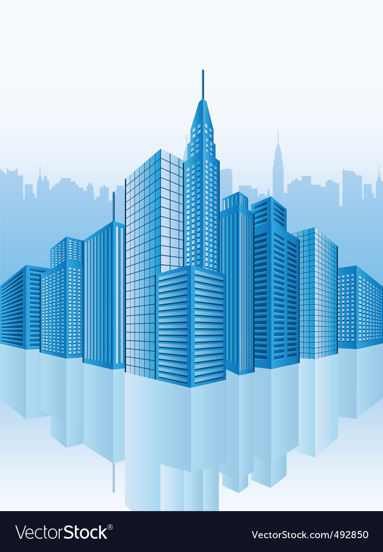 Office buildings vector | Price: 3 Credit (USD $3)
