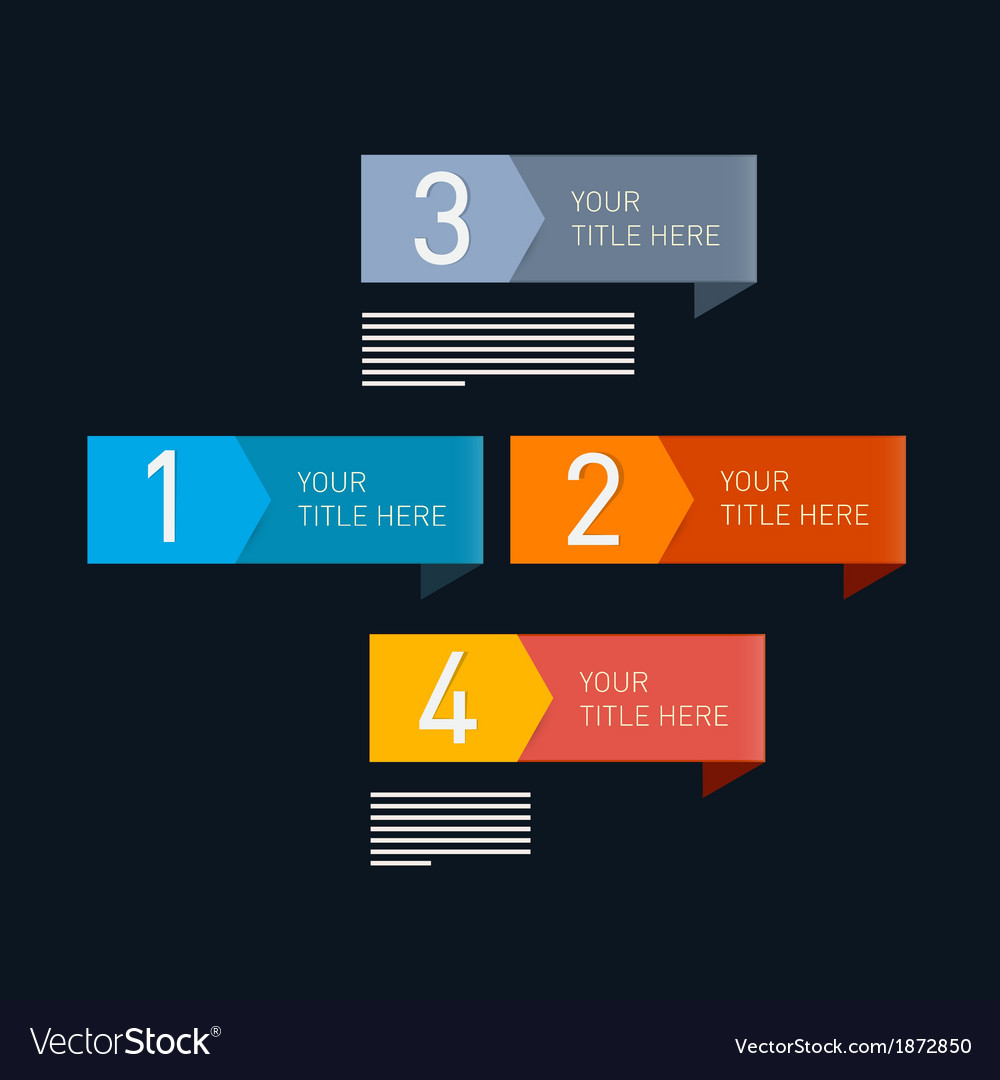 Progress steps for tutorial infographic vector | Price: 1 Credit (USD $1)