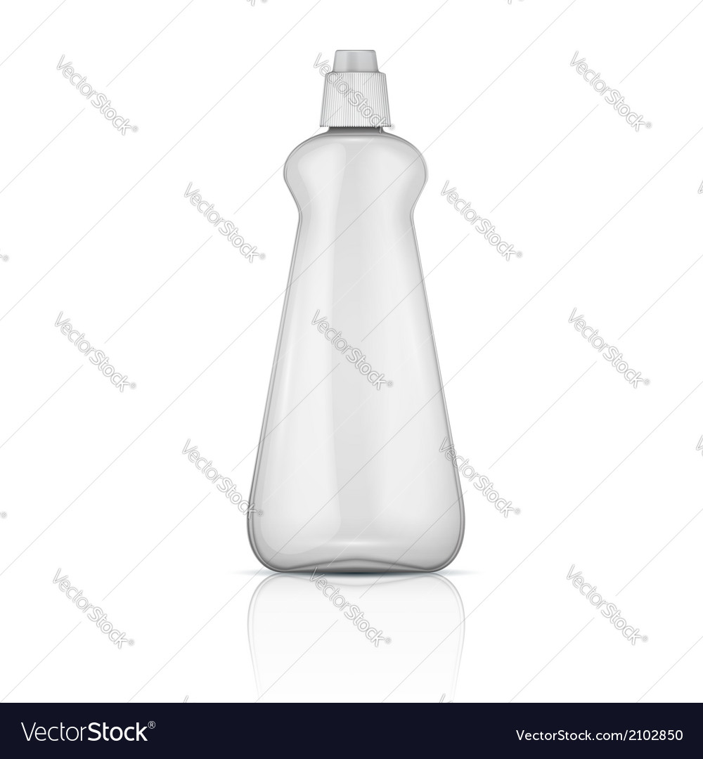 Transparent plastic bottle with riffle cap vector | Price: 1 Credit (USD $1)