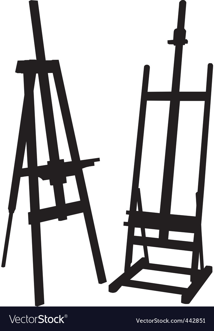 Artist easel vector | Price: 1 Credit (USD $1)