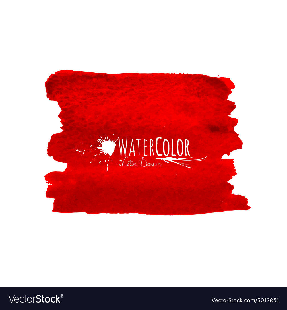 Bright red banner isolated on white background vector | Price: 1 Credit (USD $1)
