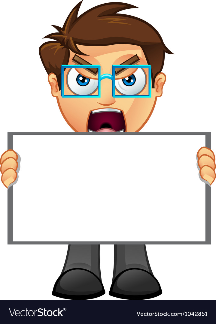 Business man blank sign 1 vector | Price: 1 Credit (USD $1)