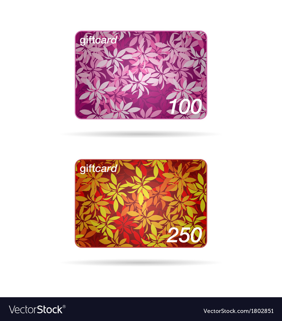 Gift card or promotion cards vector | Price: 1 Credit (USD $1)