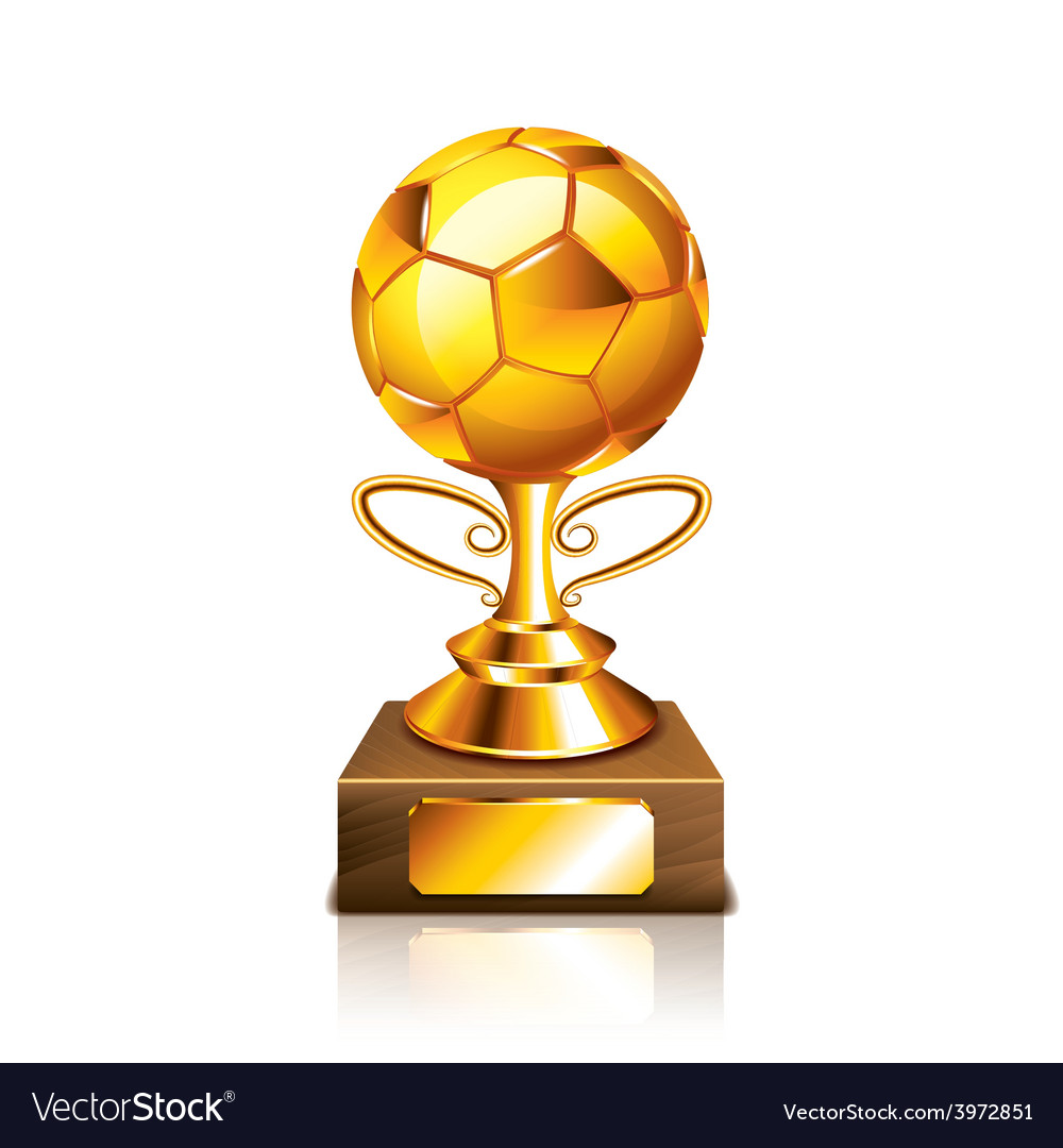 Golden ball isolated vector | Price: 1 Credit (USD $1)