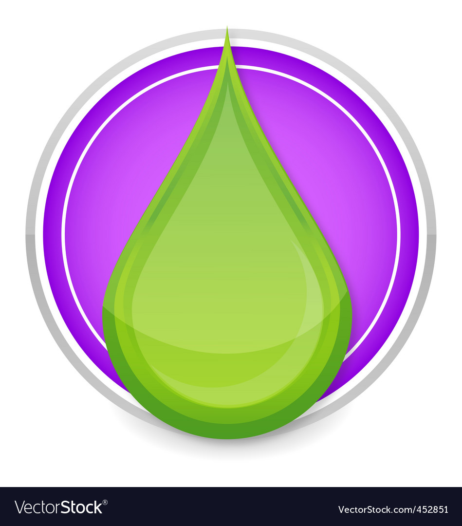 Green drop icon vector | Price: 1 Credit (USD $1)
