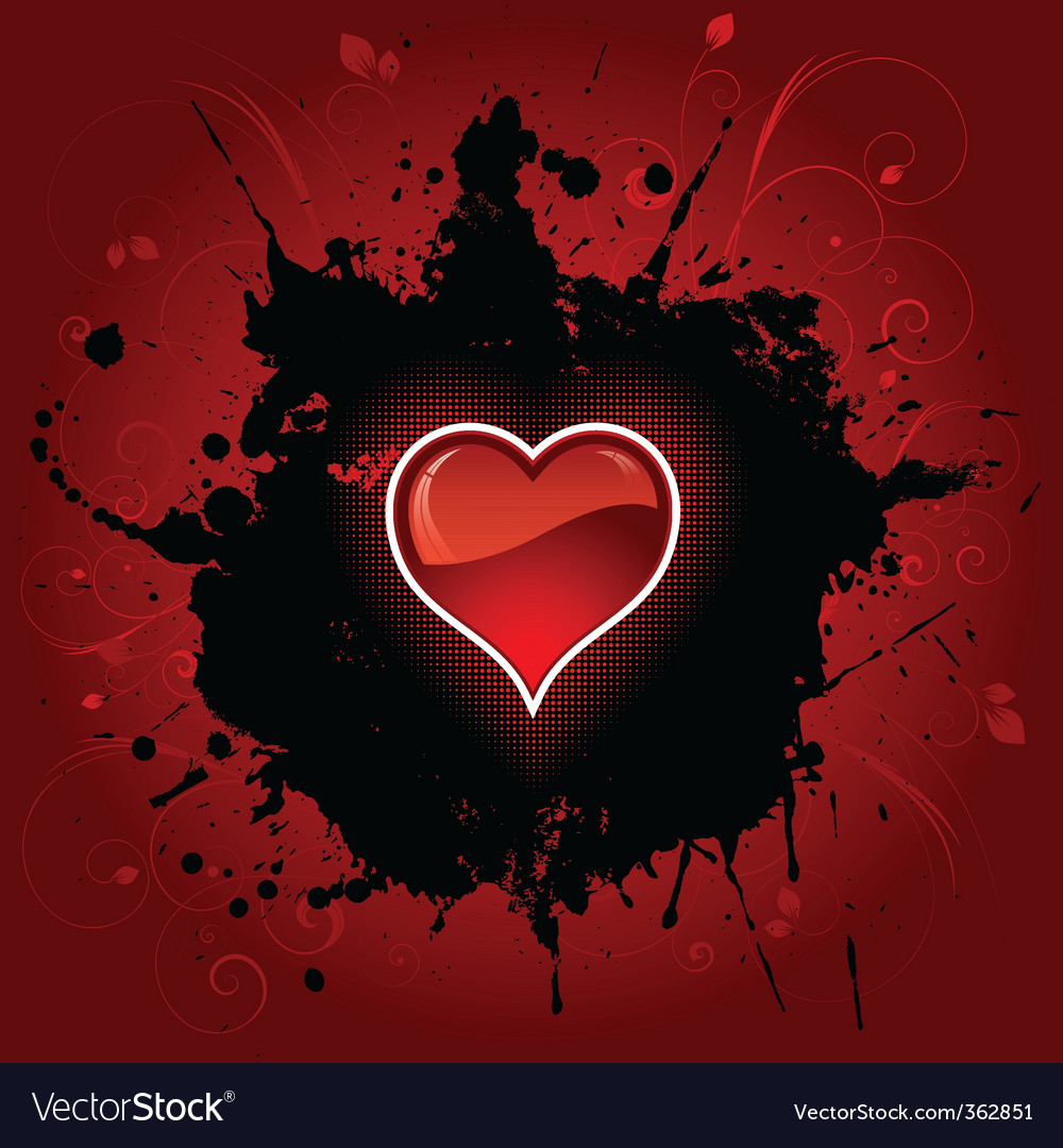 Grunge heart background vector | Price: 1 Credit (USD $1)