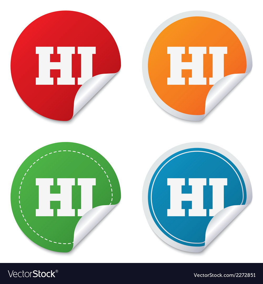 Hindi language sign icon hi india translation vector | Price: 1 Credit (USD $1)