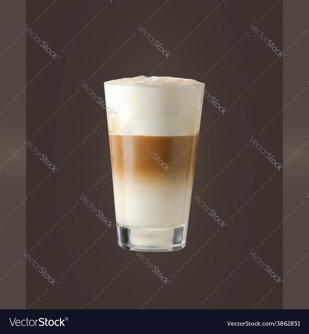 Latte glass vector | Price: 1 Credit (USD $1)