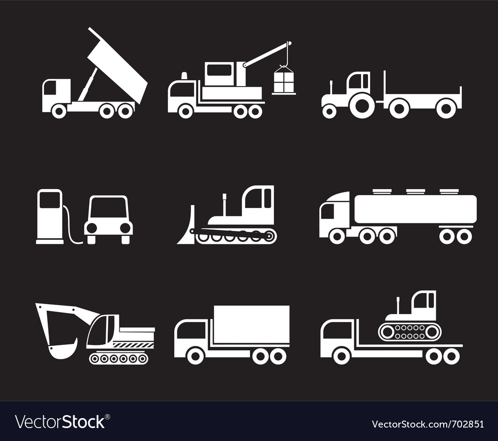 Machines heavy trucks vector | Price: 1 Credit (USD $1)