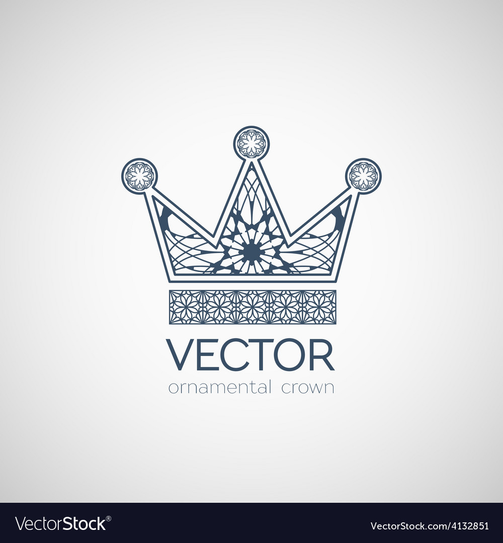 Ornamental crown vector | Price: 1 Credit (USD $1)