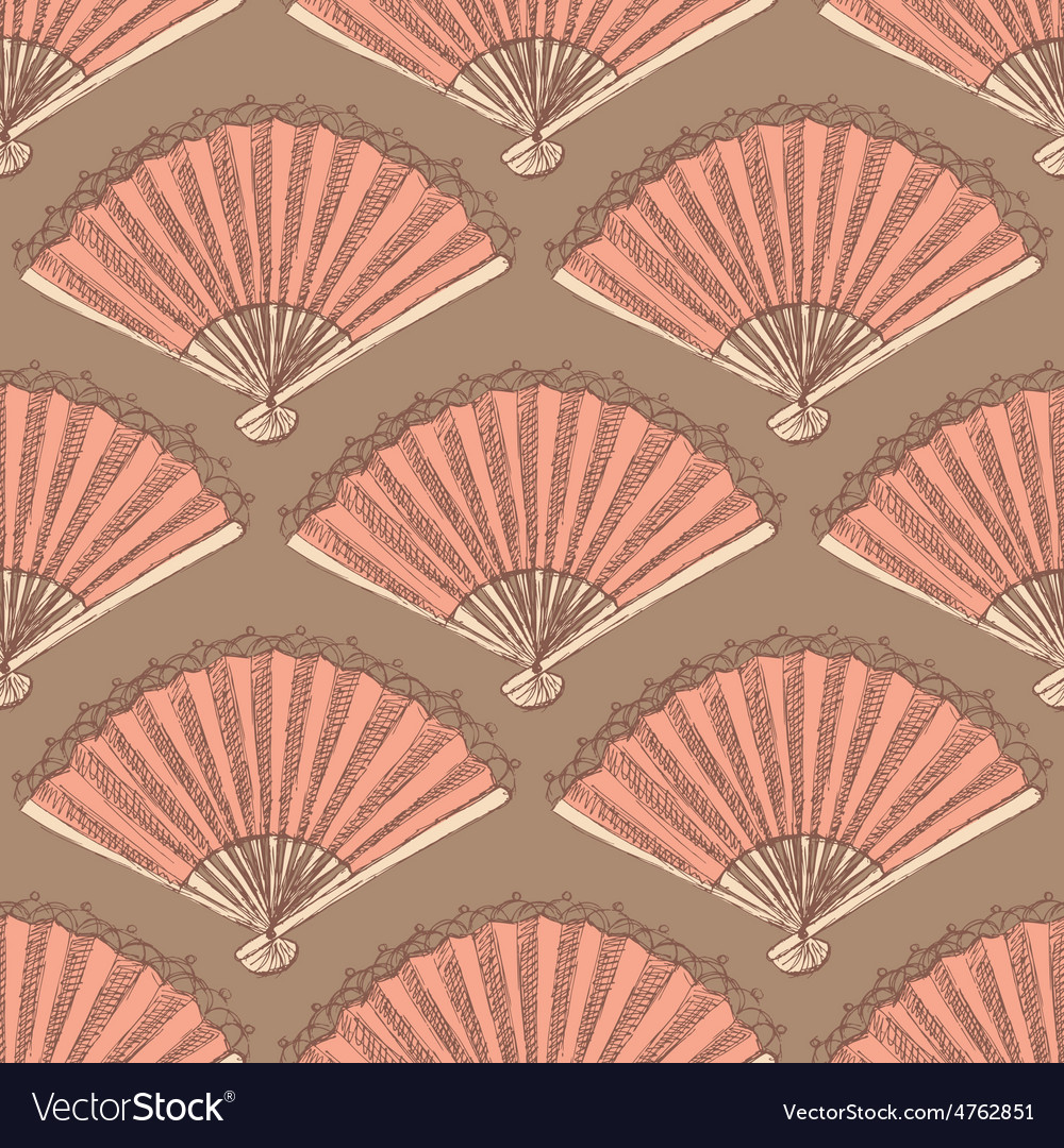 Sketch spanish fan in vintage style vector | Price: 1 Credit (USD $1)