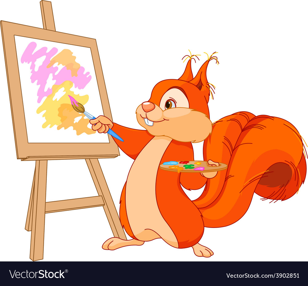 Squirrel artist vector | Price: 3 Credit (USD $3)