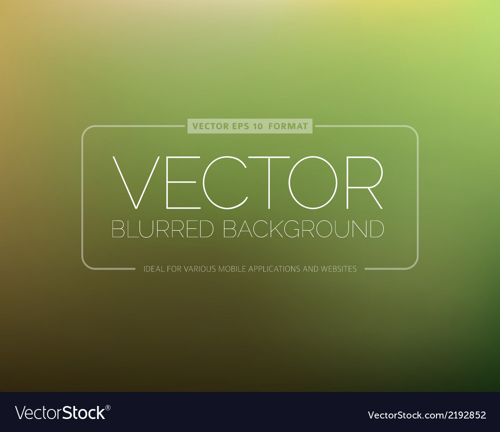 Abstract green blurred background vector | Price: 1 Credit (USD $1)