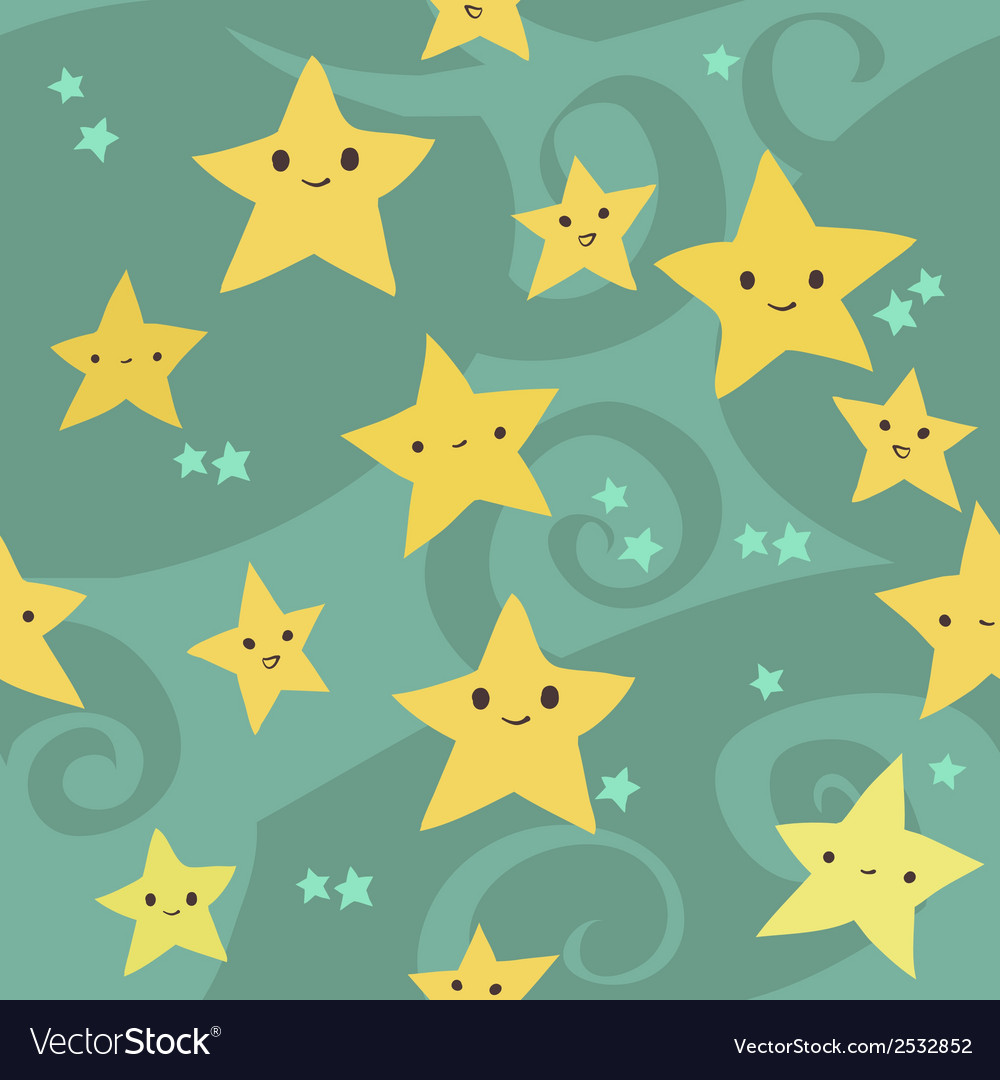 Cartoon flat stars pattern vector | Price: 1 Credit (USD $1)