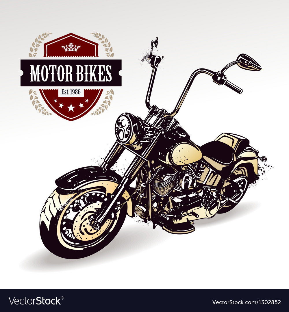 Chopper customized motorcycle vector | Price: 1 Credit (USD $1)