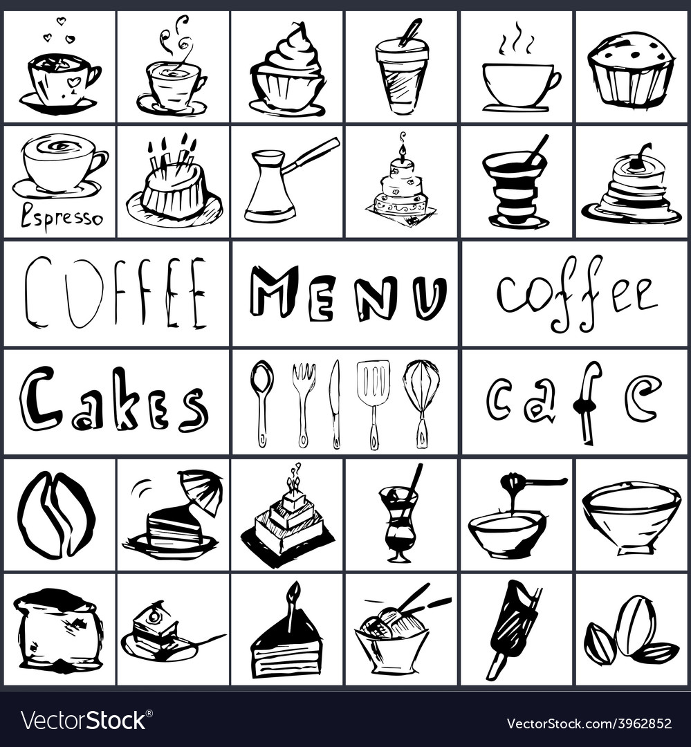 Coffee hand draw 2 vector | Price: 1 Credit (USD $1)