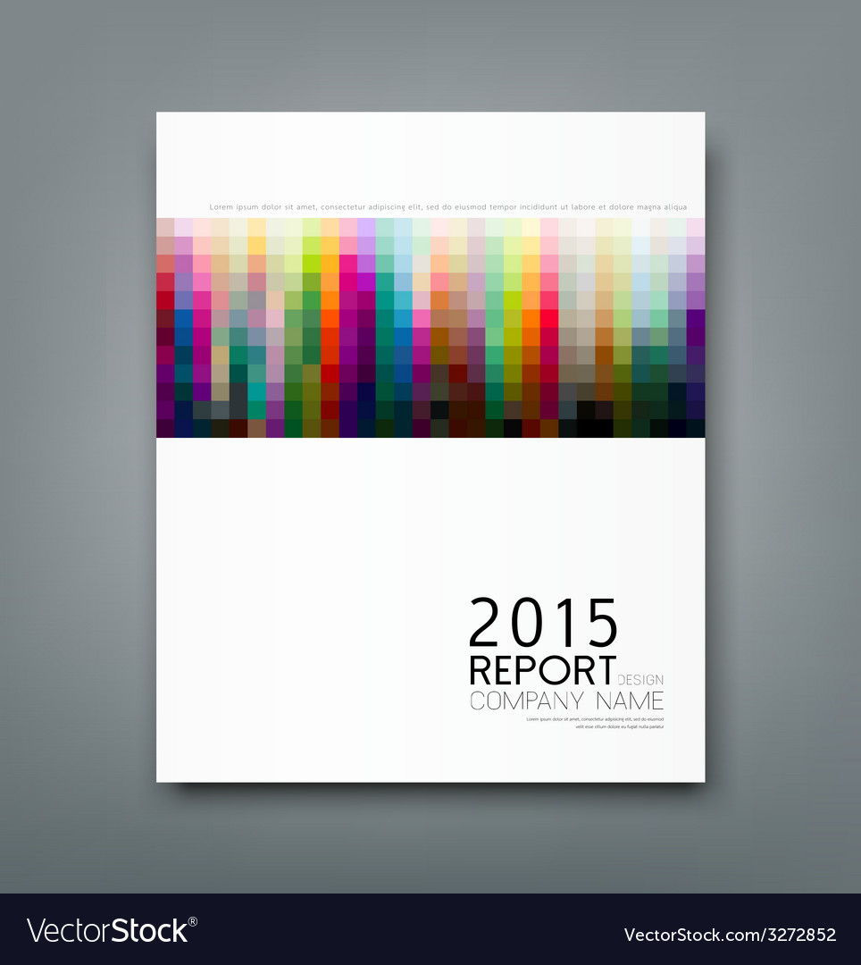 Cover report colorful square pattern design vector | Price: 1 Credit (USD $1)
